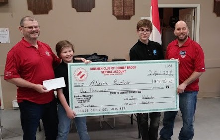 $1000 to the Atlantic Boys Choir